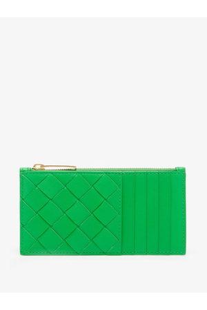 Bottega Veneta Zipped Intrecciato Leather Cardholder - Womens