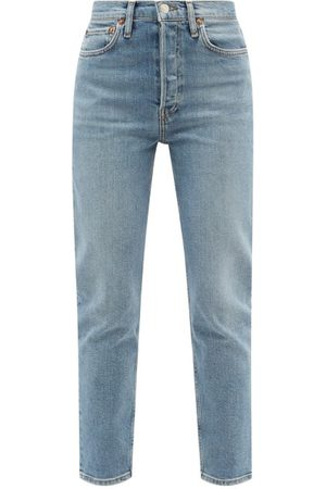 RE/DONE 90s Ankle Crop High-rise Jeans - Womens - Light Denim