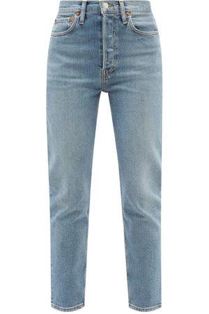 Women Boyfriend - Re/Done - 90s High Rise Ankle Crop Jeans - Womens - Light Denim