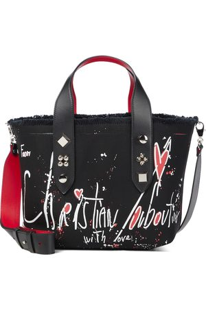 Christian Louboutin Women Tote Bags - Frangibus Small printed canvas tote