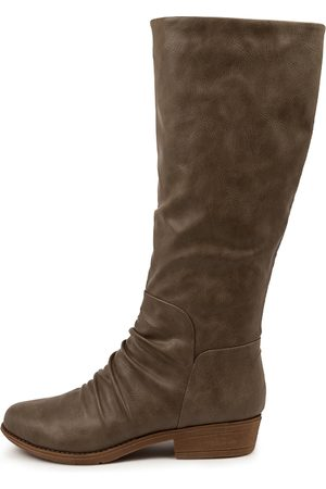 I LOVE BILLY Women Knee High Boots - Rexit Taupe Boots Womens Shoes Casual Long Boots