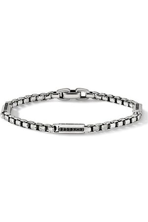 David Yurman Pavé Black Diamond & Sterling Silver Box Chain Bracelet