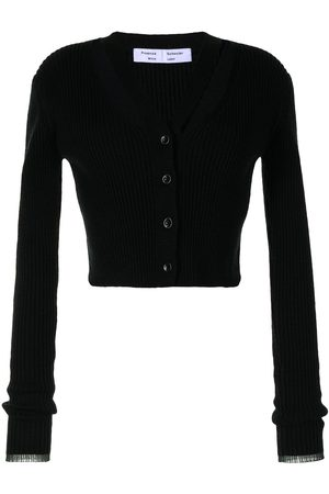 PROENZA SCHOULER WHITE LABEL Ribbed-knit cropped cardigan
