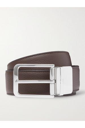 Dunhill Men Belts - 3.5cm Reversible Full-Grain Leather Belt