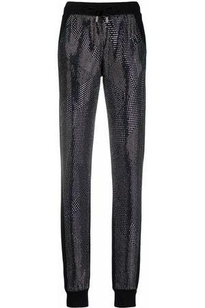 Philipp Plein Women Joggers - Crystal slim-cut track pants