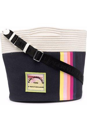 Karl Lagerfeld Logo-patch bucket bag