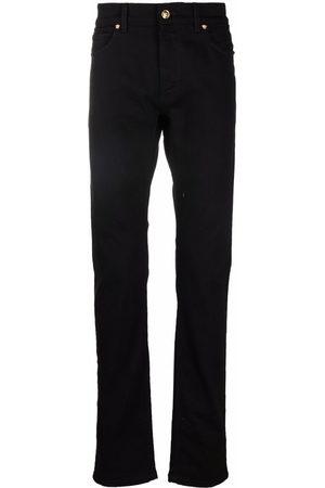 VERSACE Men Straight - Straight-leg Medusa logo plaque jeans