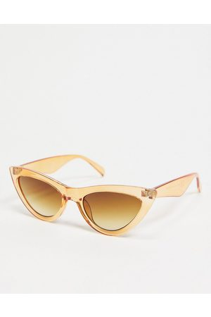 Pieces Cat-eye sunglasses in orange