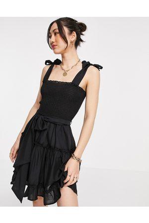 River Island Women Beach Dresses - Mini beach dress in black