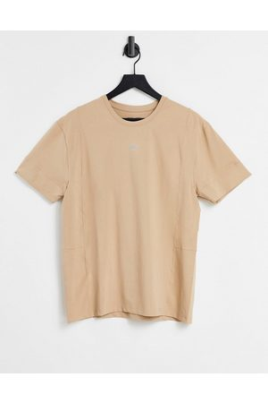 ASOS 4505 easy fit yoga T-shirt in soft touch jersey-Neutral