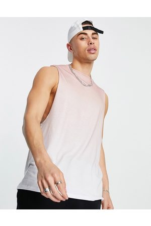 River Island Printed muscle tank in pink