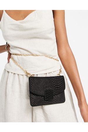Urban Code Small leather cross body purse bag in black
