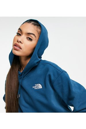 The North Face Essential hoodie in navy Exclusive at ASOS