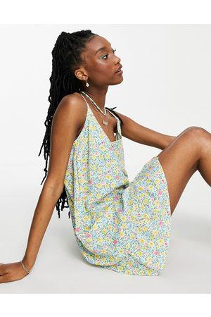 Nobody's Child Cami swing mini dress in retro floral-Multi