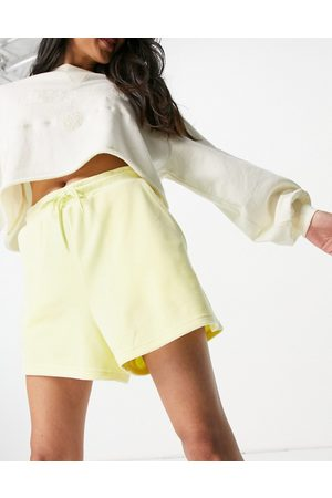Monki Women Outfit Sets - Kajsa velour mix and match co-ord shorts in yellow