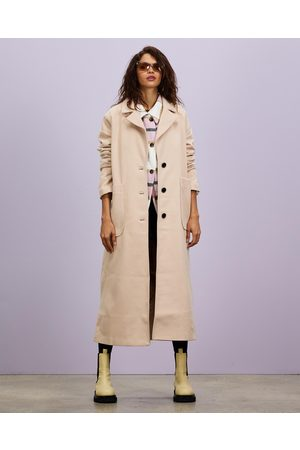 Missguided Women Trench Coats - Oversized Longline Coat - Trench Coats (Cream) Oversized Longline Coat