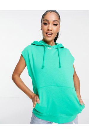 ASOS Sleeveless hoodie in apple-Brown
