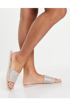 SIMMI Shoes Thongs - Simmi London Journi jewelled jelly slides in blush-Pink