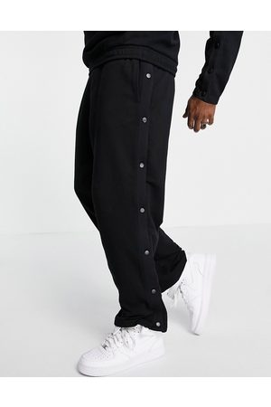 ASOS Outfit Sets - Co-ord oversized straight leg trackies with press-studs in black