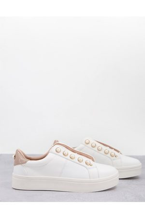 Miss KG Women Sneakers - Kassie lace up sneakers with pearl detail in blush-Neutral