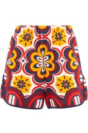 La DoubleJ Ciccio-print Cotton-blend Terry Shorts - Womens - Multi