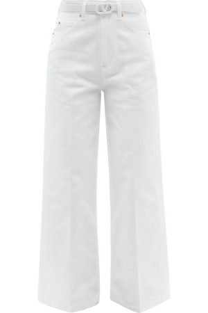Valentino - Belted Wide-leg Jeans - Womens