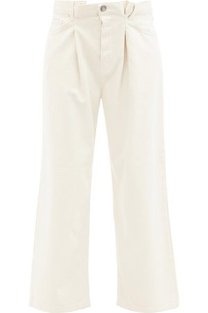 Raey - Fold Organic-cotton Dad Baggy Boyfriend Jeans - Womens - Ivory