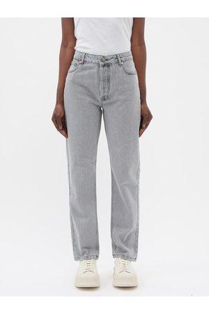 Raey - Track Organic-cotton High-rise Straight-leg Jeans - Womens - Light