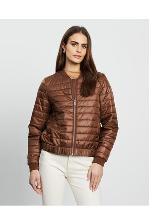David Lawrence Matilda Quilted Bomber - Coats & Jackets (CHESTNUT) Matilda Quilted Bomber