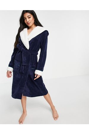Chelsea Peers Fluffy dressing gown in blue