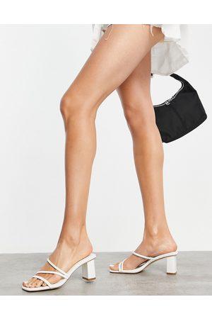 Forever New Millie multi-strap block mule in white