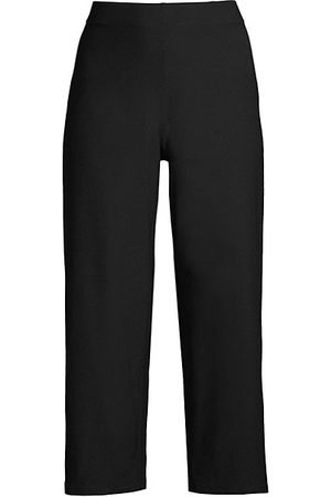 Eileen Fisher Straight Cropped Jersey Pants