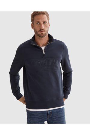 COUNTRY ROAD Verified Australian Cotton Half Zip Heritage Sweat - Sweats (navy) Verified Australian Cotton Half Zip Heritage Sweat