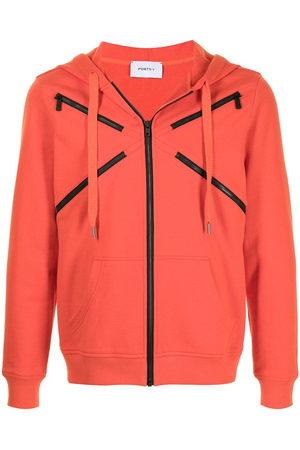 Ports V Zip-embellished hooded jacket