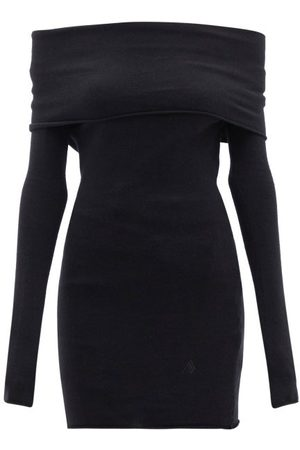 The Attico - Off-shoulder Wool-blend Jersey Top - Womens