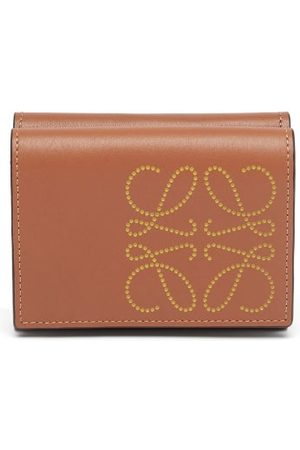 Loewe Anagram Leather Wallet - Womens - Tan