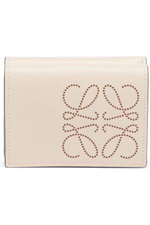 Loewe Anagram Leather Wallet - Womens - Cream