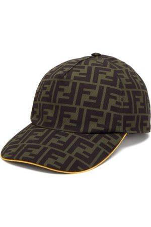 Fendi Ff-monogram Canvas Baseball Cap - Mens