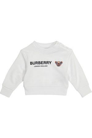 Burberry Sweatshirts - Baby logo cotton sweatshirt