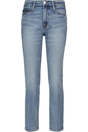 Frame Women Shorts - Le Hardy high-rise denim shorts