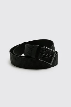 Boohoo Mens Faux Leather Textured Belt