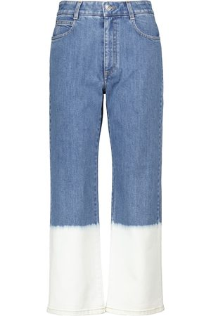 Stella McCartney High-rise cropped straight jeans