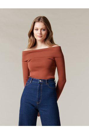 Forever New Angeline Bardot Knit Top