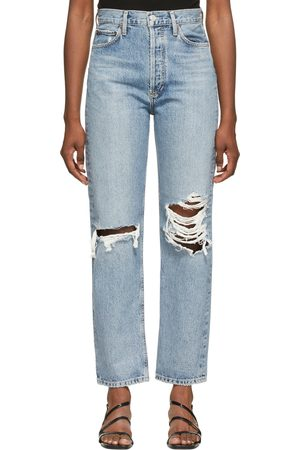AGOLDE Ripped '90s Pinch Waist High Rise Jeans