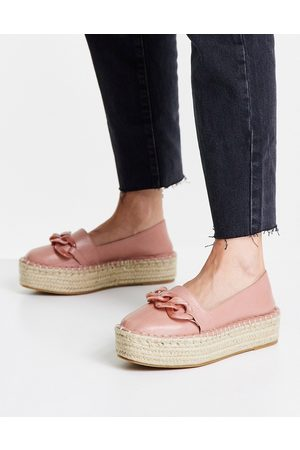 ASOS Jakie flatform chain espadrilles in pink