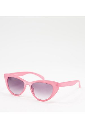 Jeepers Peepers Women's cat-eye sunglasses with pearl chain in pink - exclusive to ASOS
