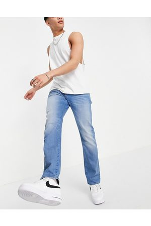G-Star Straight - 3301 straight tapered jeans in mid wash-Blue