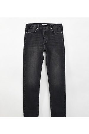 Topman Men Straight - Big straight leg jeans in washed