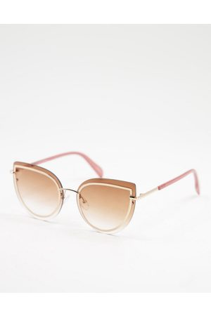 Jeepers Peepers Women's oversized cat eye sunglasses in brown