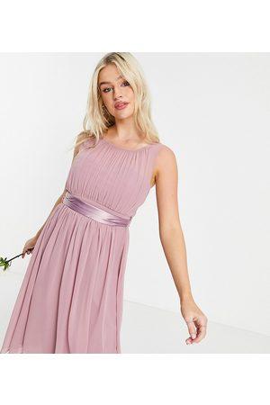Little Mistress Bridesmaid skater dress in pink